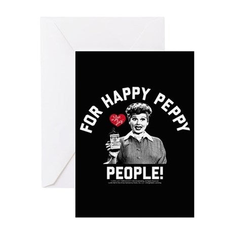 I Love Lucy: Happy Peppy People Greeting Card