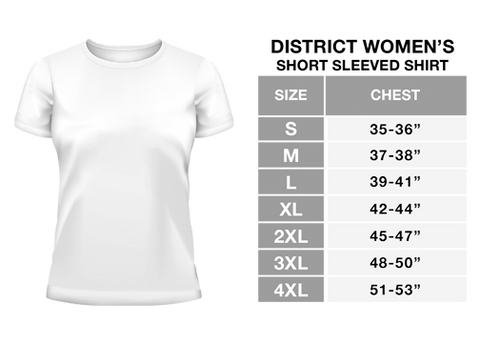 Cycling Womens Tee Sizing Chart
