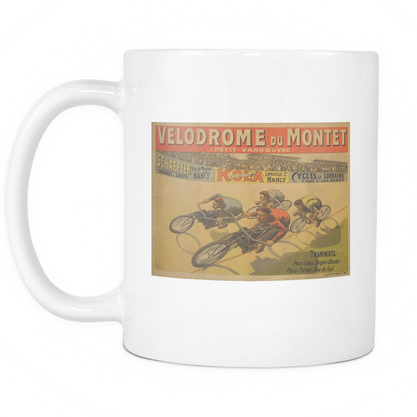Velodrome Du Montet Coffee Mug - Cycling T-Shirt Drinkware - T-Shirt Hoodie Clothes Mugs Cyclist Fashion ShirtCycling Ink - Cycling Ink