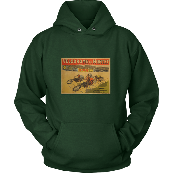 Velodrome Hoodie - Cycling T-Shirt Hoodie - T-Shirt Hoodie Clothes Mugs Cyclist Fashion ShirtCycling Ink - Cycling Ink