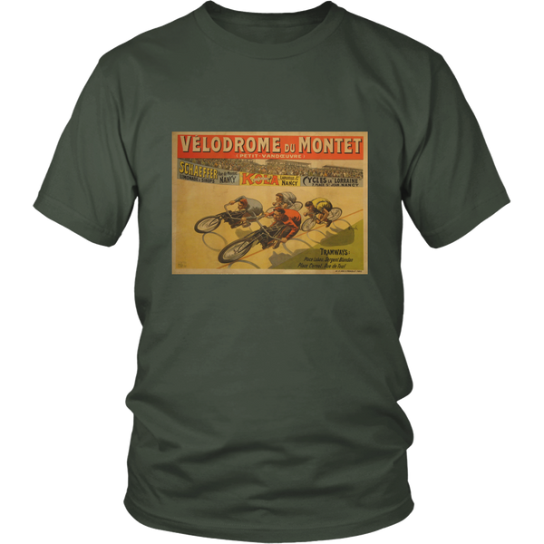 Velodrome Du Montet Tee - Cycling T-Shirt T-shirt - T-Shirt Hoodie Clothes Mugs Cyclist Fashion ShirtCycling Ink - Cycling Ink