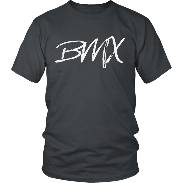 BMX Cycling Racing Rider T-Shirt Charcoal