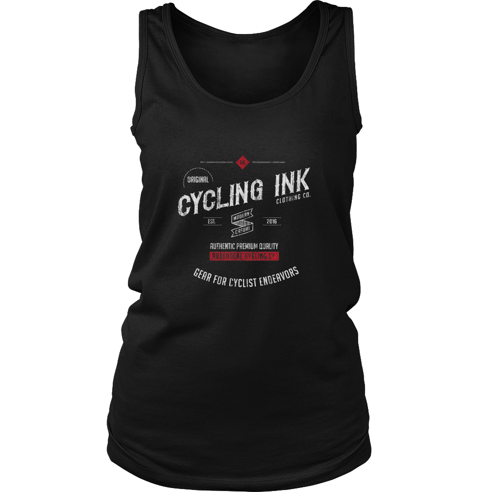 Cycling Ink Womens Endeavor Tank Top Black Cyclist