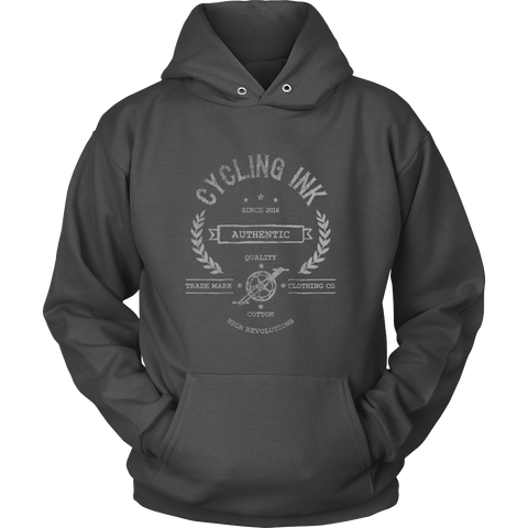High Revolutions Distressed Hoodie - Cycling T-Shirt Hoodie - T-Shirt Hoodie Clothes Mugs Cyclist Fashion ShirtCycling Ink - Cycling Ink