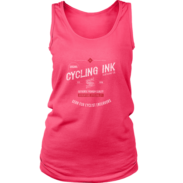 Cycling Ink Womens Endeavor Tank Top Pink Cyclist