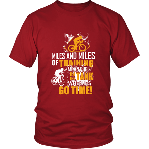Miles and Miles Tee - Cycling T-Shirt T-shirt - T-Shirt Hoodie Clothes Mugs Cyclist Fashion ShirtCycling Ink - Cycling Ink