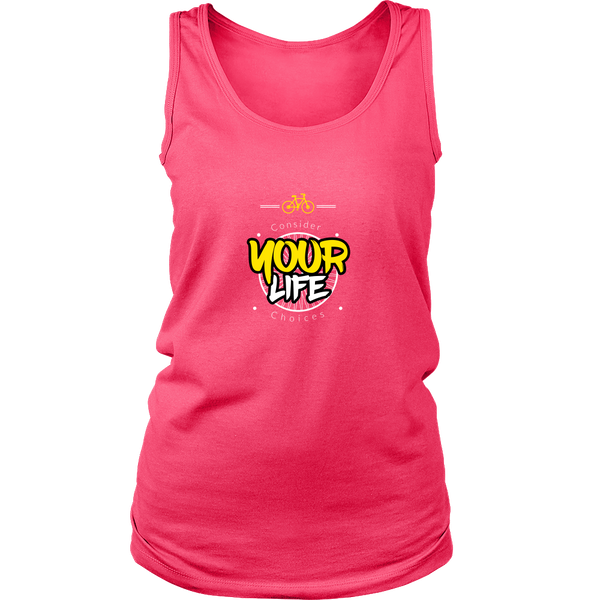 Consider your life choices cycling tank top pink