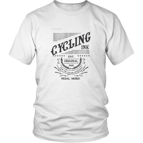 Pedal More Cycling Logo Shirt - Cycling T-Shirt T-shirt - T-Shirt Hoodie Clothes Mugs Cyclist Fashion ShirtCycling Ink - Cycling Ink