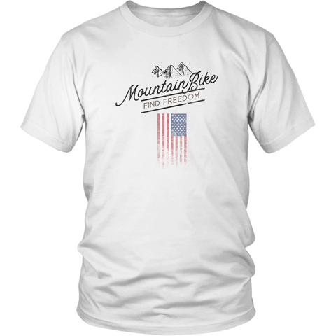 mountain bike t-shirt white