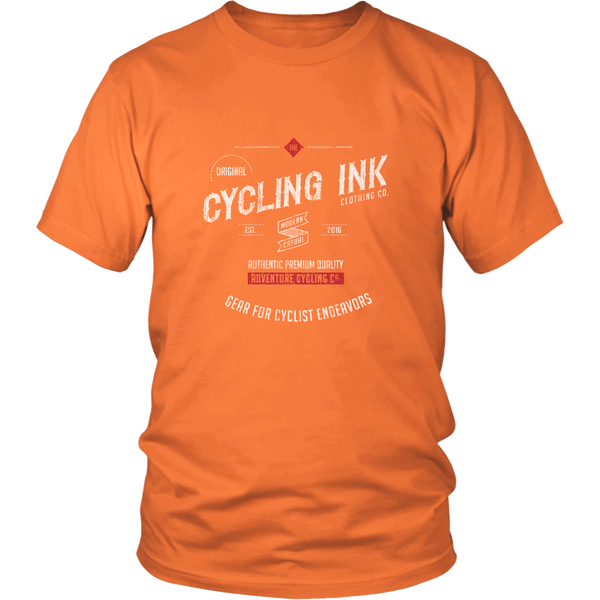 Cycling Ink Endeavor T-Shirt Tee for Cyclist Orange