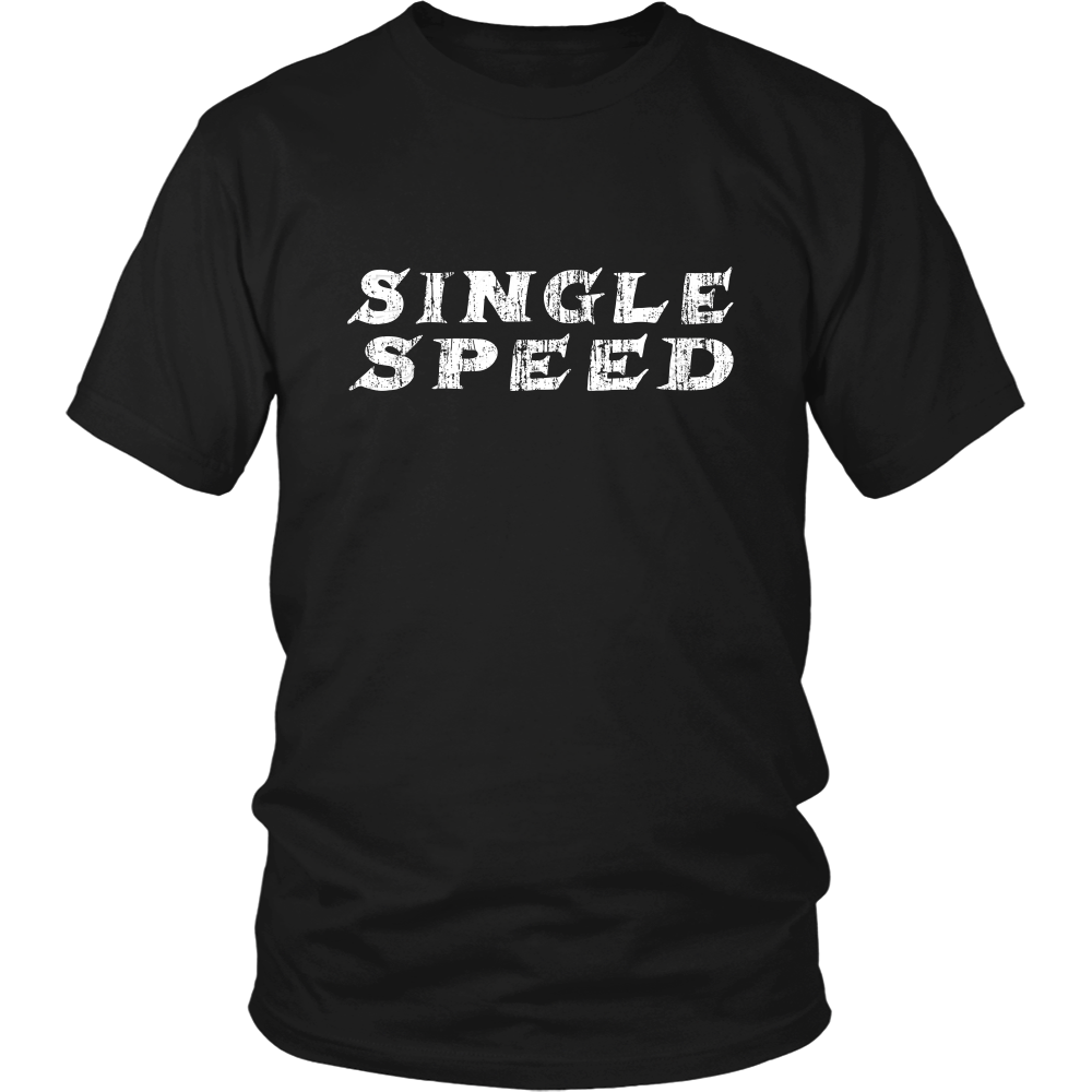 Single Speed Cycling T-shirt Front