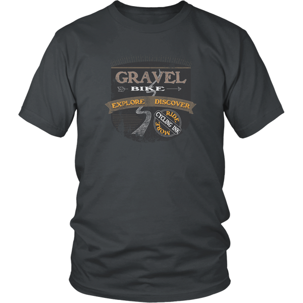 Gravel Bike T-Shirt Charcoal