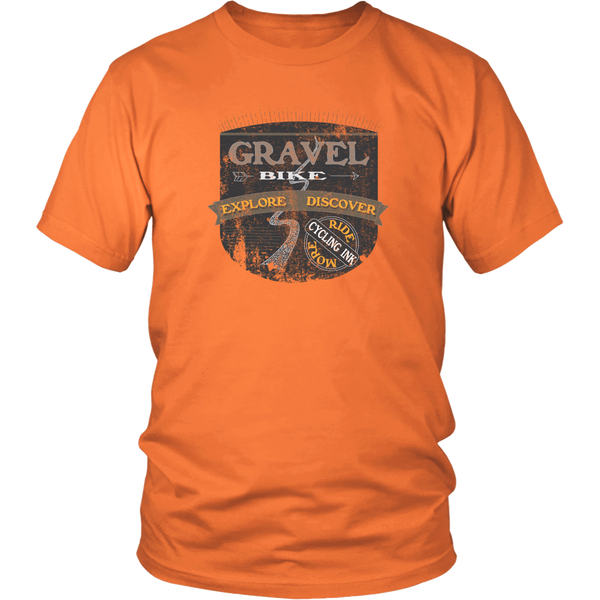 Gravel Bike T-Shirt Orange