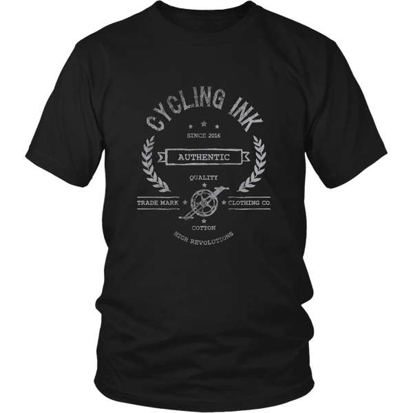 High Revolutions Distressed T-Shirt - Cycling T-Shirt T-shirt - T-Shirt Hoodie Clothes Mugs Cyclist Fashion ShirtCycling Ink - Cycling Ink