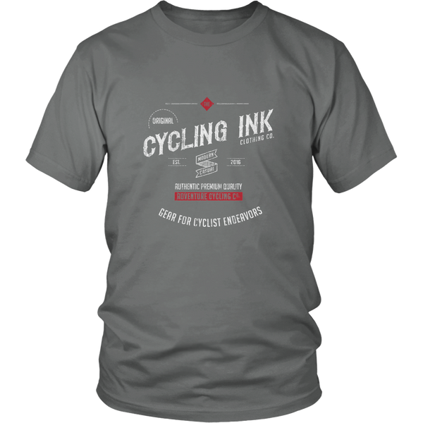 Cycling Ink Endeavor T-Shirt Tee for Cyclist Grey