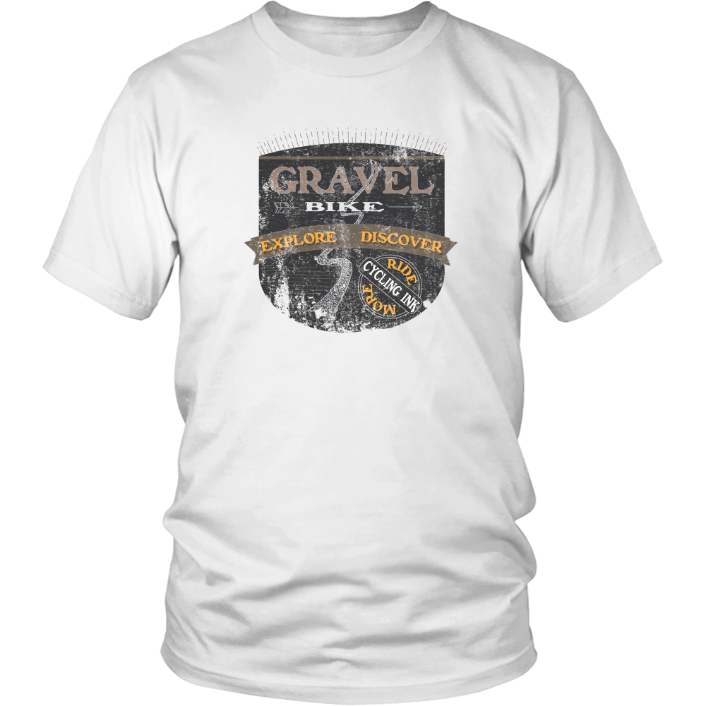 Gravel Bike T-Shirt White