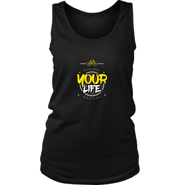 Consider your life choices cycling tank top black