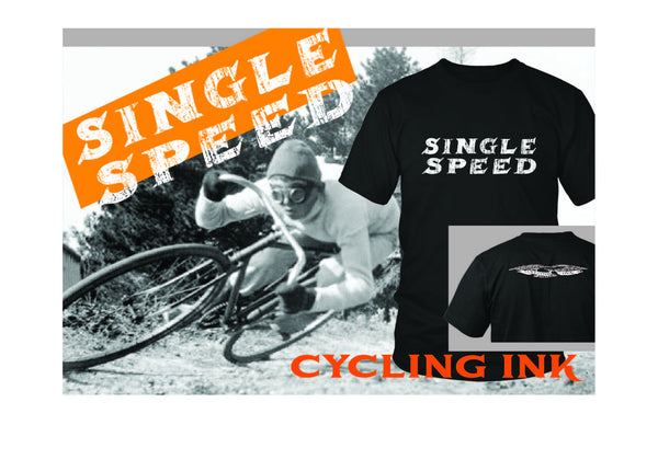 New Single Speed Bike Tee from Cycling Ink