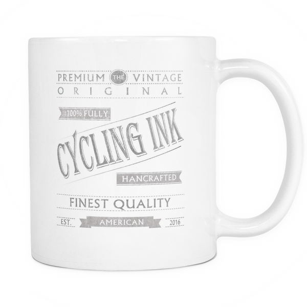 Premium Logo Mug - Cycling T-Shirt Drinkware - T-Shirt Hoodie Clothes Mugs Cyclist Fashion ShirtCycling Ink - Cycling Ink