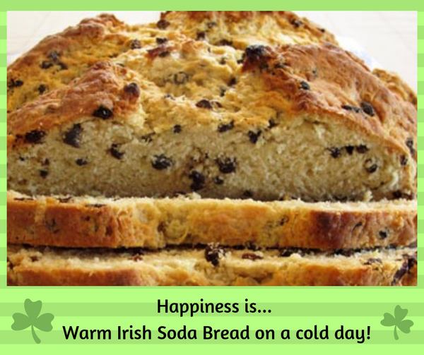 Warm soda bread on a cold day!