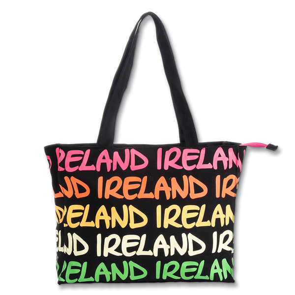 Ireland Rainbow Shopper - Large - Pink/Yellow, Pink/Blue or Green