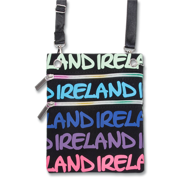 Ireland Rainbow Passport Bag - Pink/Blue, Green or Pink/Yellow