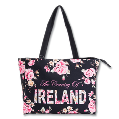 Large Robin Ruth Ireland Floral Shopper - Black