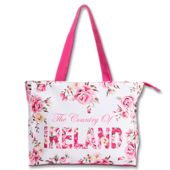 Large Robin Ruth Ireland Floral Shopper - White