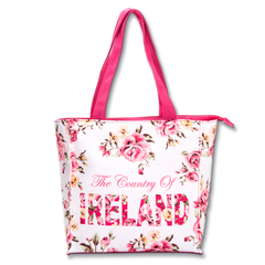 Small Robin Ruth Ireland Floral Shopper - White