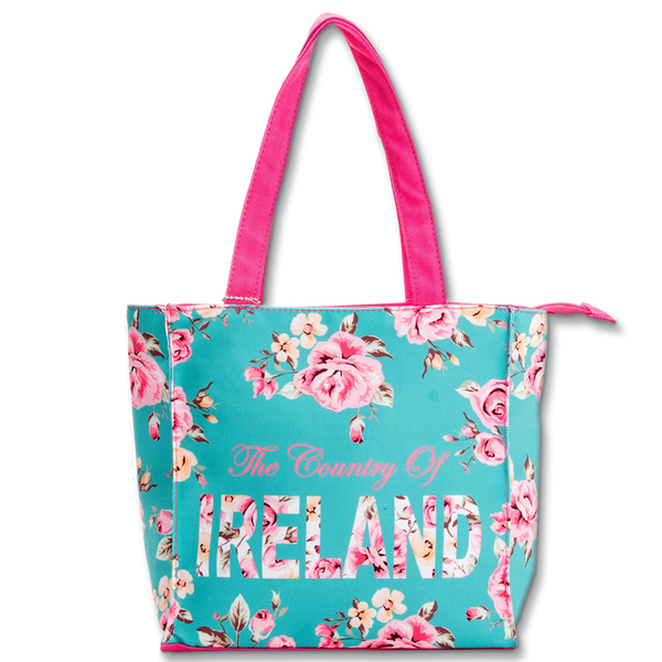 Ireland Floral Shopper - Small - Green, Black or White