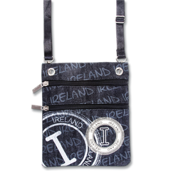 Robin Ruth Ireland Denim Stamp Passport Bag - Green