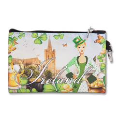 Robin Ruth Ireland Shamrock Coin Purse & Key Ring