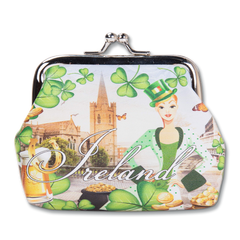 Robin Ruth Ireland Shamrock Clasp Coin Purse