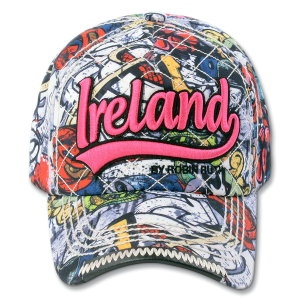 Ireland Graffiti Cap - Fuchsia or Blue