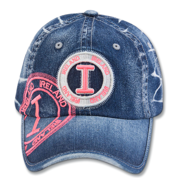 Denim Ireland Stamp Cap - Navy, Gray or Black