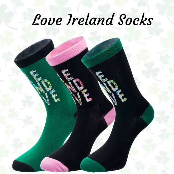 Ireland Love Socks 4 Ladies - 3 Colors
