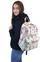 Robin Ruth Ireland Flower Backpack Blue