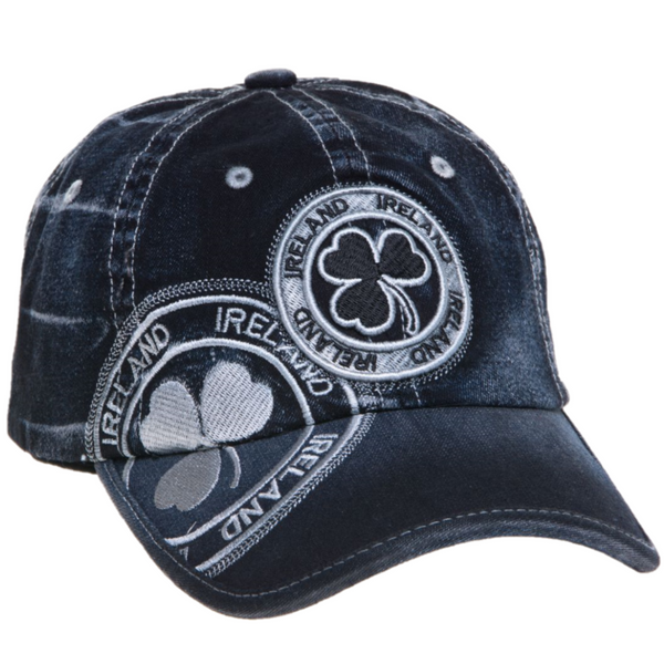 Ireland Denim Shamrock Stamp Cap - 3 Colors
