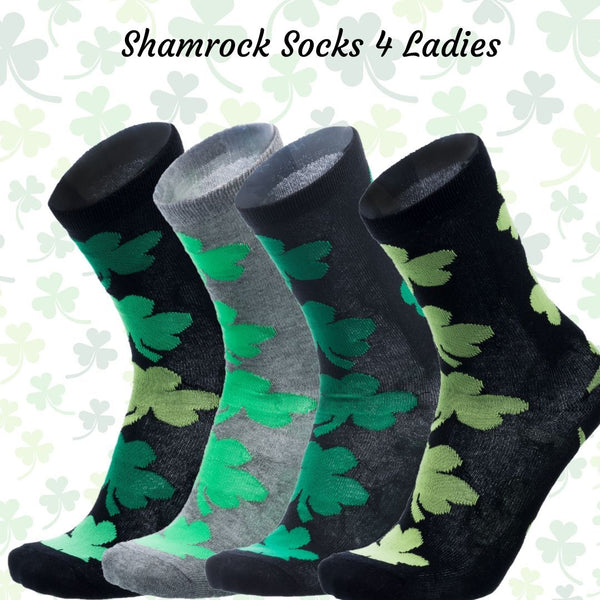 Ireland Shamrock Socks 4 Ladies