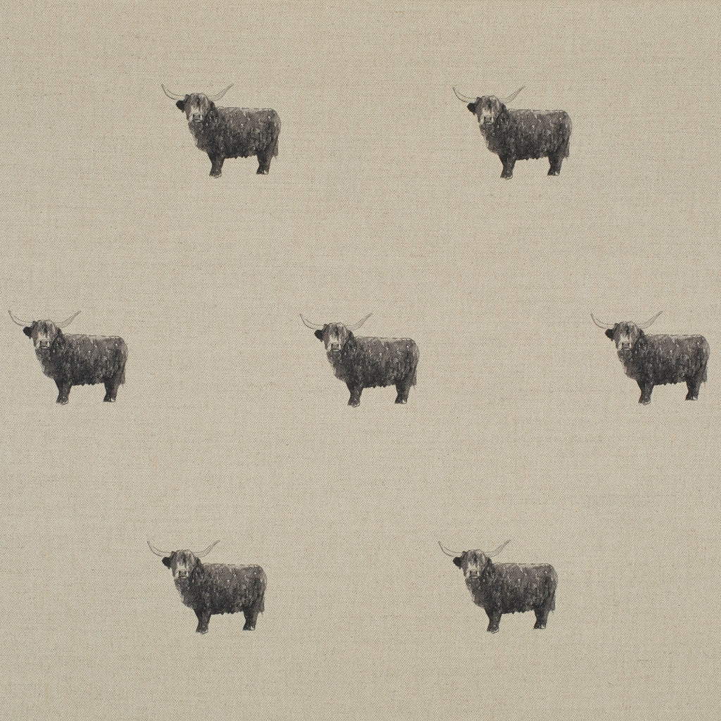 Highland bull fabric - 160cm remnant