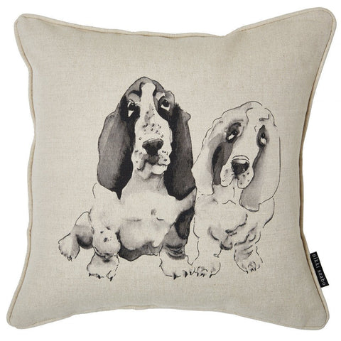 Cushion - Barney & Biscuit - Basset Hound Cushion