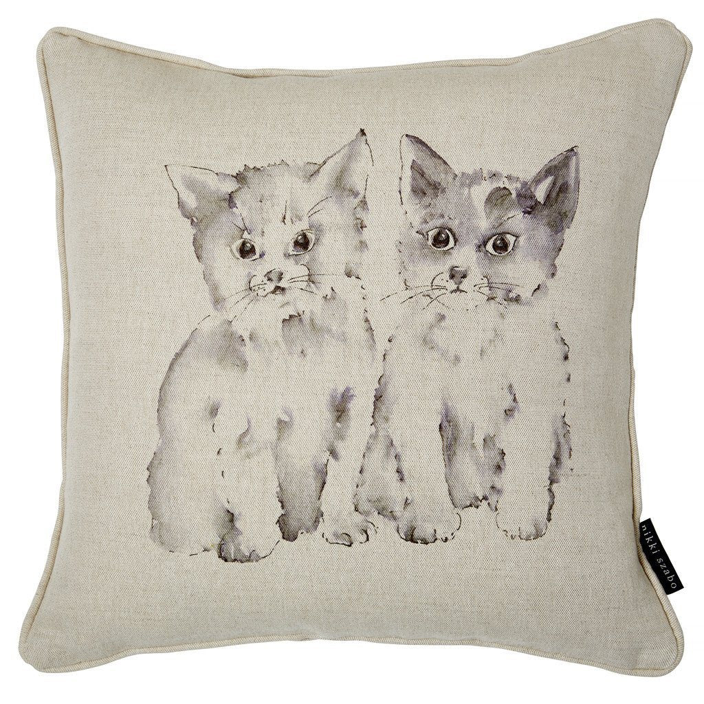 Cushion - Fizz & Abby - Kittens Cushion