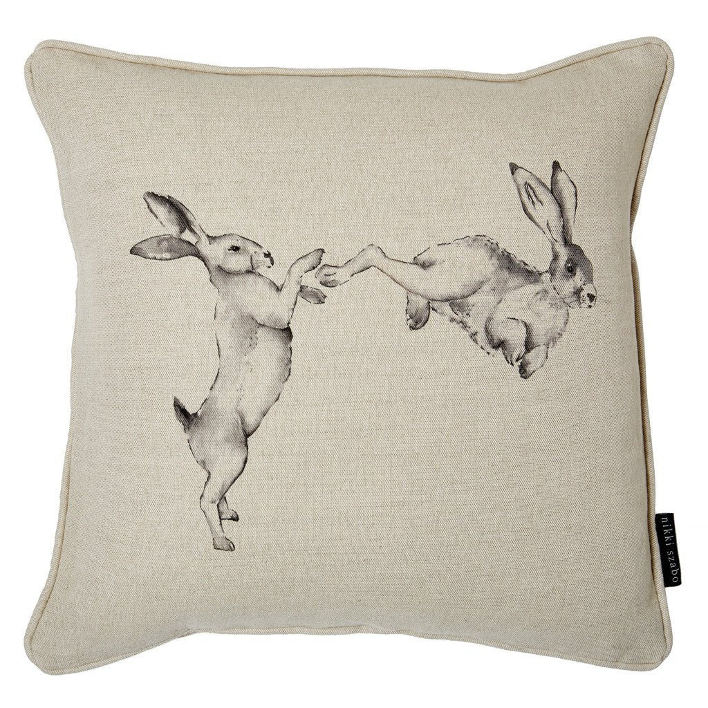 Cushion - Lucy & Lex - Boxing Hares Cushion