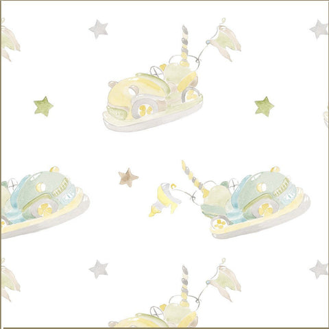 Fabric - Bumper Car - Childrens Fabric