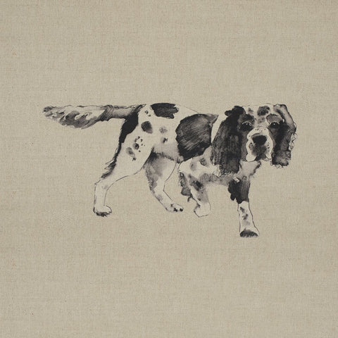 Fabric Cushion Panel - Benny - Springer Spaniel Fabric Cushion Panel