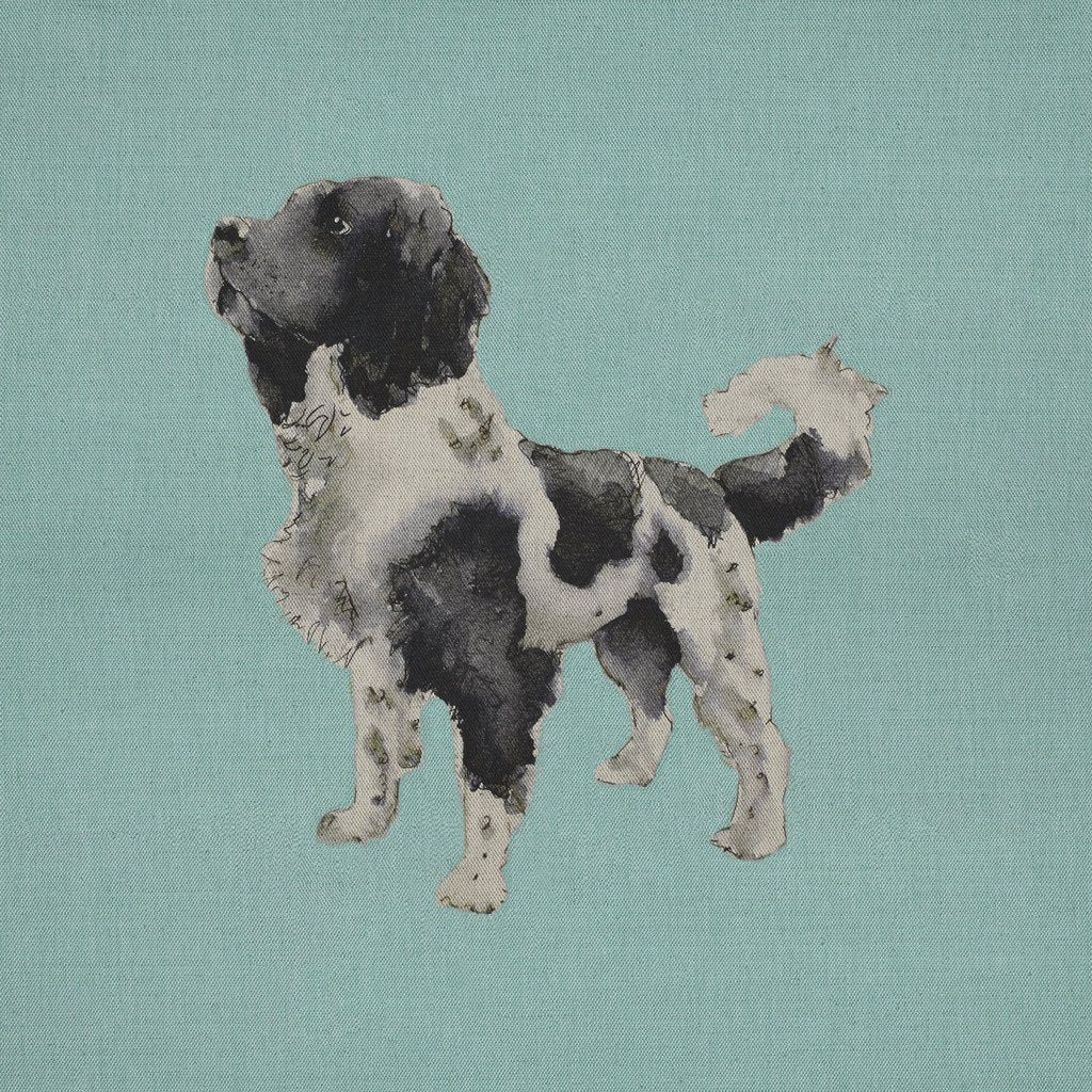 Fabric Cushion Panel - Benson - Springer Spaniel Fabric Cushion Panel