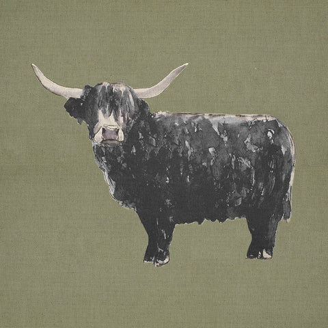 Fabric Cushion Panel - Billy Boy - Highland Bull Fabric Cushion Panel