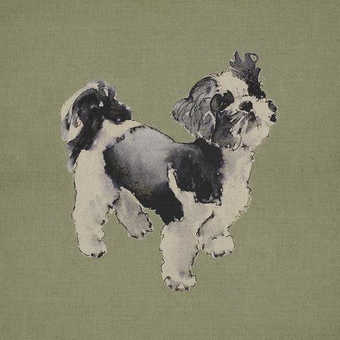 Fabric Cushion Panel - Bobby - Shih-tzu Fabric Cushion Panel