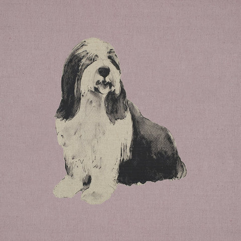 Fabric Cushion Panel - Dillon - Bearded Collie Fabric Cushion Panel