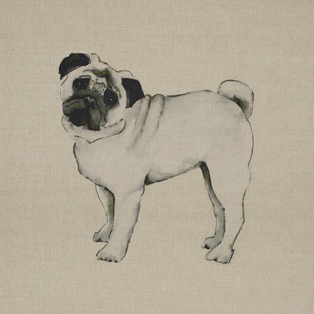 Fabric Cushion Panel - Smithy - Pug Fabric Cushion Panel